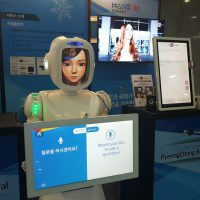 Hyundai robot AI at department store translation into 4 languages - Retail in Asia
