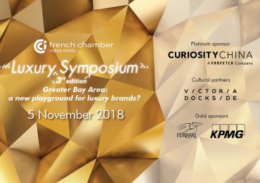 Luxury Symposium, Nov.5th : Greater Bay Area: a new playground for luxury brands?