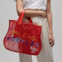 Model_Weave Tote Smile More Weaving Mesh $5590