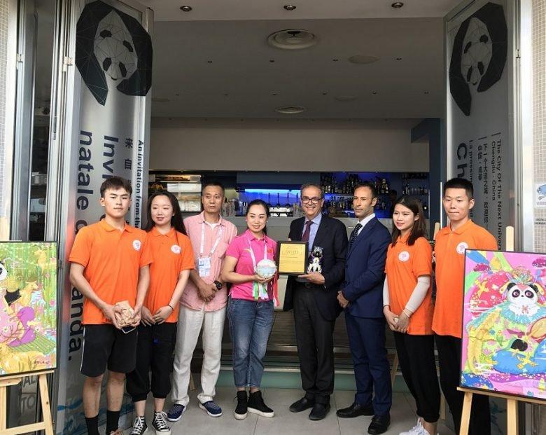 China's Chengdu Panda Café opens in Naples, Italy