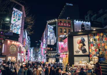 Myeong-dong is ranked the most expensive commercial district in Korea