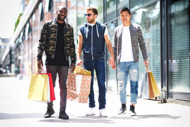 male shoppers